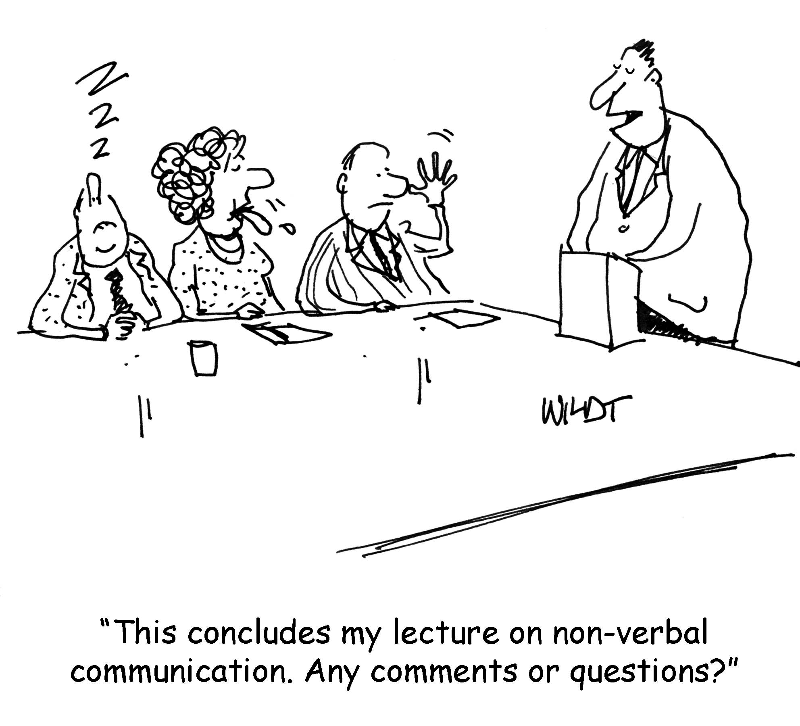 cartoon about non-verbal communication