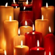 Picture of candles illustrating Jesus, the light of the world