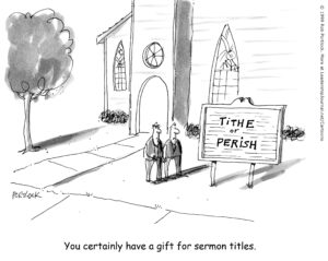 cartoon about money sermons