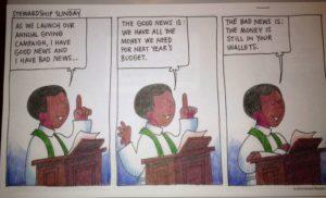 cartoon on giving to church