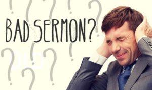 bad sermon