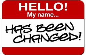 name change badge
