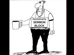 cartoon about sermon block