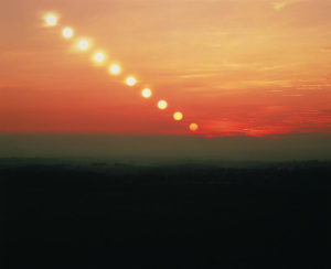 time lapse image of the sun