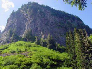facing a mountain