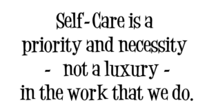self care is a necessity