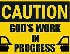 God is at work poster