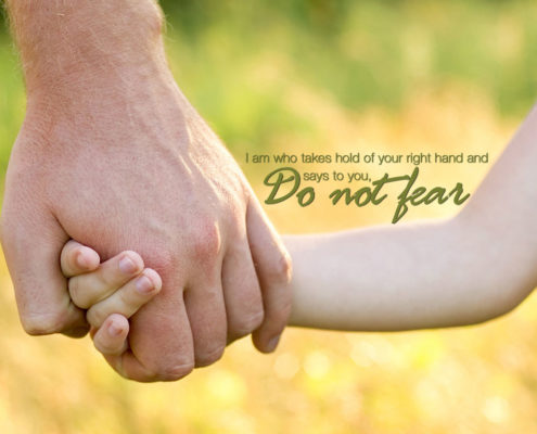 Jesus holding my hand