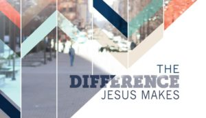 Jesus makes a difference poster