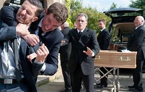 family tension at a funeral